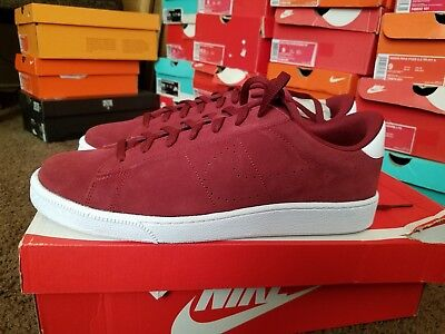 online store 6b5c3 83e34 NIKE TENNIS CLASSIC CS SUEDE RETRO TENNIS SHOES TEAM RED WHITE 829351 601  Sz12.5