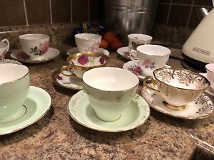 Looking for vintage tea cups, tea pots and plates