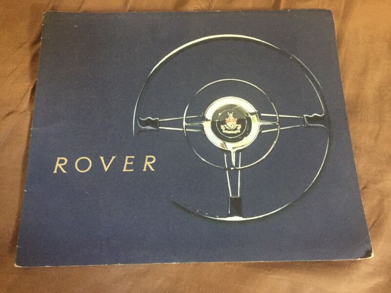 1958 1959 Rover 80 and 100 Sedan Original Color Brochure Prospekt