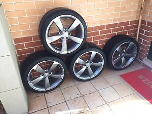 "4x GENUINE AUDI A4/A5 19"" 5-ARM ROTOR WHEELS 19x8.5 255/35 Guildford West Parramatta Area Preview"