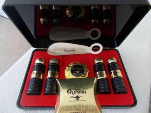 ALADDIN VINTAGE TOILETRY GUEST SET  WHEN THE CASINO FIRST OPENED IN LAS VEGAS