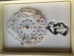 Lenox Nursery Noah's Ark Clock with Pendulum in Original Box