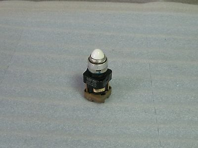 Square D Push Button Pilot Light, White, 9001-TP21, 9001TP21, Used, Warranty