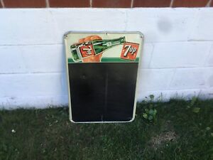 Rare seven up sign with girl in bottle 7up not Coke Pepsi crush