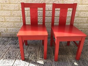 Ikea Red Kritter Kids/Children Chairs Bateman Melville Area Preview