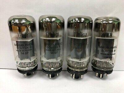 Sovtek 6L6WGC 5881 Quad of Russian Vacuum Tubes Used & Tested