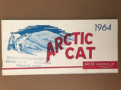 RARE!!!  Vintage 1964 Arctic Cat Snowmobile Sales Brochure Pamphlet Manual