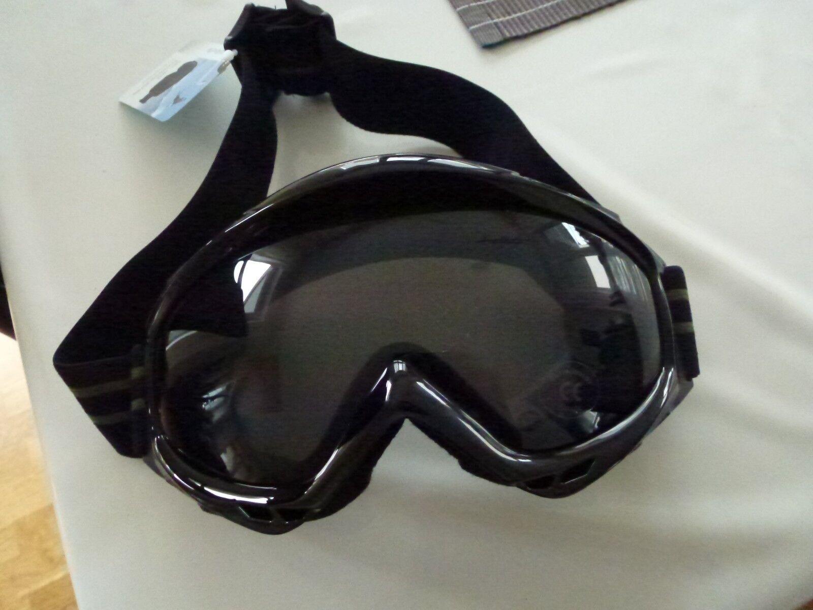 Hochwertige Herren - Skibrille mit UV-Schutz - Glas schwarz ink. Etui