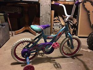 "Girls 14"" Ariel Princess bicycle with training wheels"