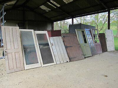 Reclaimed vintage joblot of 10 wood wooden doors