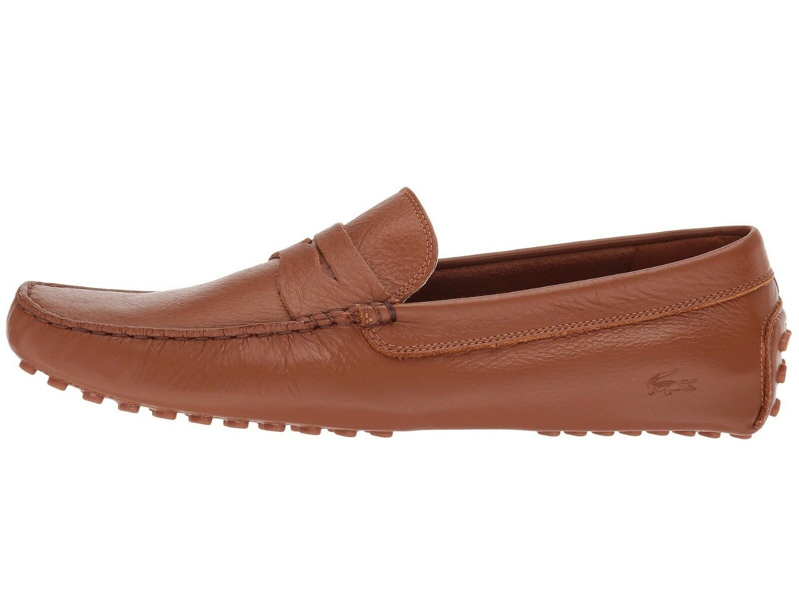 NEW Lacoste Men's Croc Casual Concours 118 1 Slip on Leather shoes Loafers Tan
