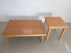 Beech Coffee and Lamp tables Sans Souci Rockdale Area Preview