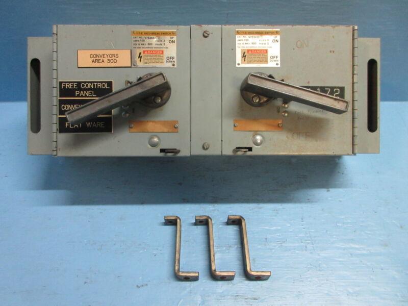 Ite V7e3633 W Hardware 100 Amp 600v Fusible Vacu-break Panelboard Switch Siemens