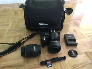 Nikkon 5100 with 2 lenses, like new, low shutter count
