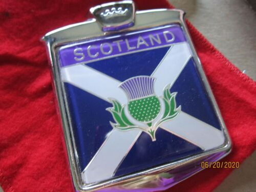 SCOTLAND Car Badge Emblem w instructions made in England RARE Collection Vintage