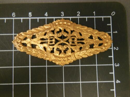 Large Filigree w/vines & leaf Brass stamping jewelry finding (osb0065)