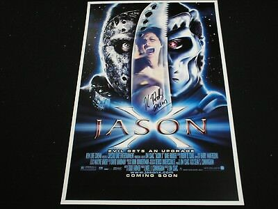 KANE HODDER Signed 11x17 Jason X Poster Voorhees Friday 13th