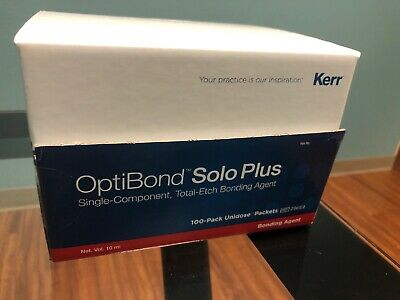 Kerr Optibond Solo Plus Bonding Agent Single Component Totaletch Dental Adhesive