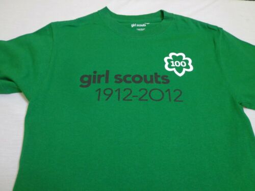 Girl Scouts  100 Years Of Girl Scouts 1912-2012 Green T Shirt  Size  Small (6-8)