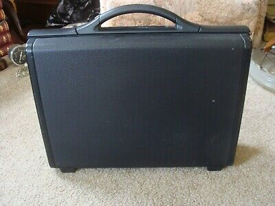 Vintage 80's Samsonite Focus Hard Shell Black Briefcase Attache Combo-Lock 5""