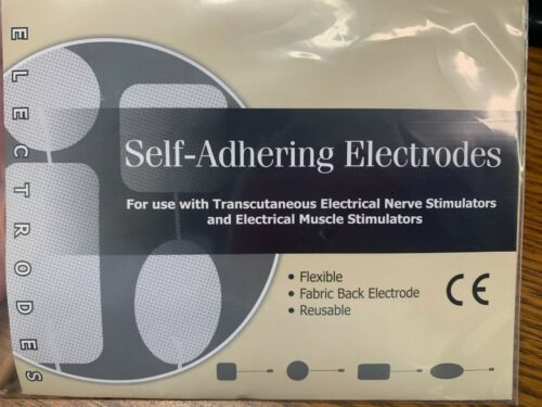 Compass Health TENS unit Replacement Electrodes Pad 2 x 2 Tan Square ~Free Ship~