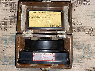 Vintage Weston Direct Current Voltmeter Model 1 No43020 Volts 0-300