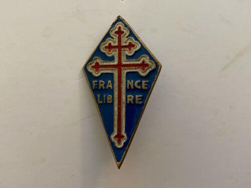 pk824 Original WW2 France Free French Metal Breast Badge  L2B