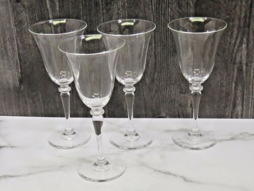 Set of 4 Frederick Carder Steuben 6401 Crystal Water Glasses 8""