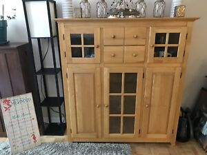 Canadian made real wood hutch