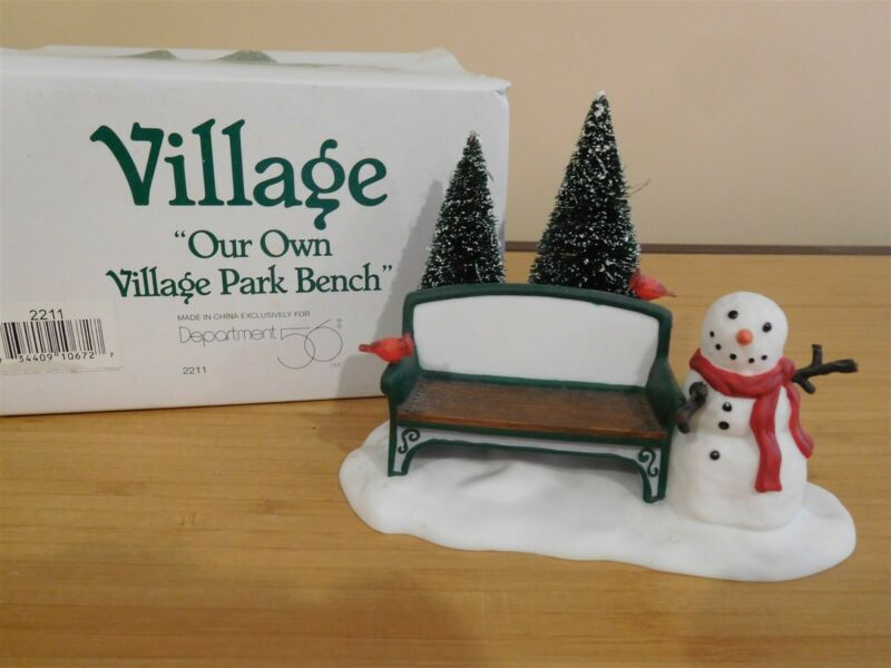 Dept 56 Snow Village - Our Own Village Park Bench - NIB - Free Shipping