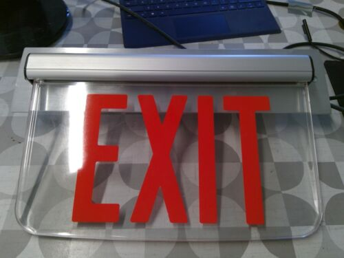 Hubbell Prescolite LEPWSRXNA Clear Exit Sign **Free Shipping**