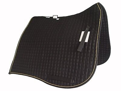 Black or White PRI Fleece Back Quilted Dressage Saddle Pad