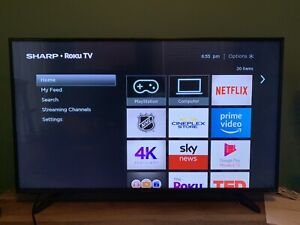 "Sharp 43"" 4K UHD HDR Roku Smart Tv"
