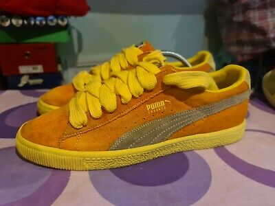 Puma Crooked Tongues Clyde CT Persimmon Orange And Lemon Yellow Uk10