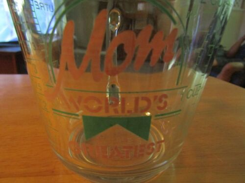 """Vintage Anchor Hocking 2 Cup/1 Pint Measuring Cup """"World"""