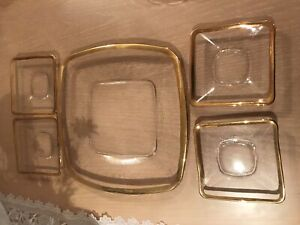 Gold Boarded Glass plates