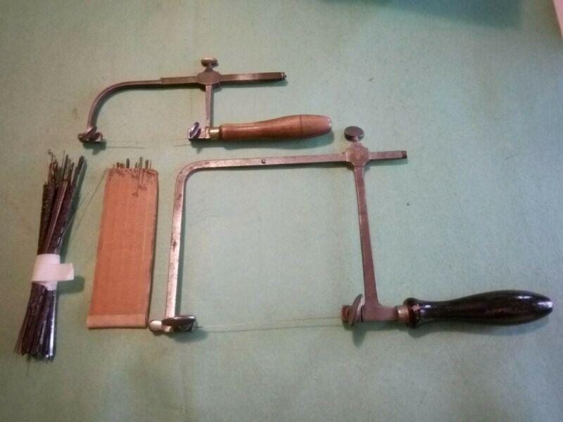 Coping saws,vintage w/blades,jeweler,craftsman,hobbyist