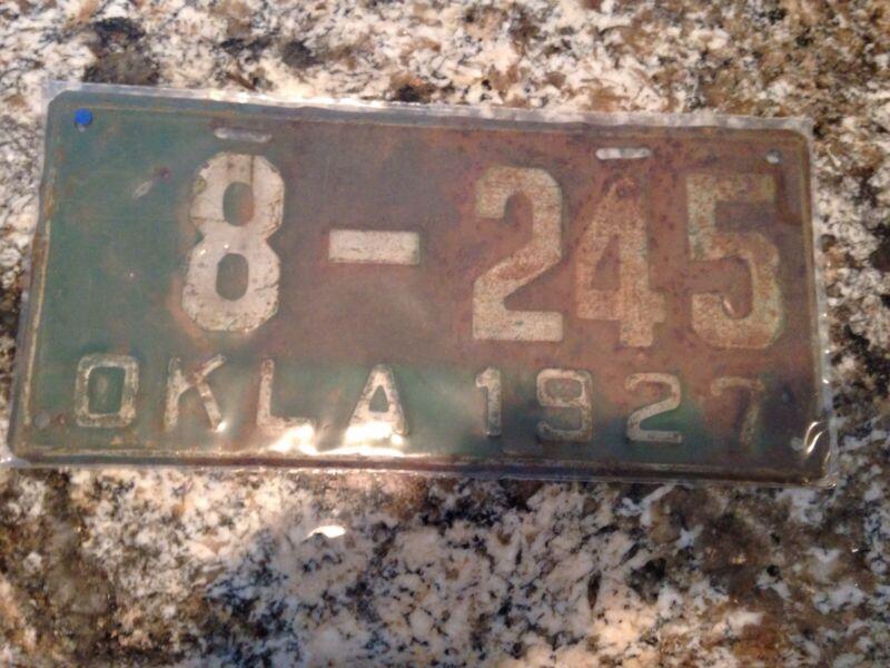 1927 Oklahoma License Plate 8 245