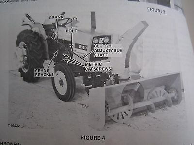 1978 Allis Chalmers Mod. 64 Snow Thrower For 5020 5030 Tractor Operators Manual