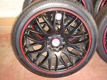 "Set Of 18"" Lenso Black Rims With Red Trim 5 x 114.3 Pattern ! Green Valley Liverpool Area Preview"