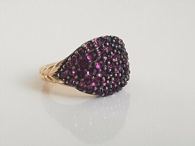 David Yurman 18k Rose Gold Pinky Osetra Garnet RingSize 7