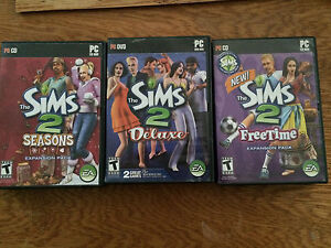 Sims 2 PC game & two expansion packs