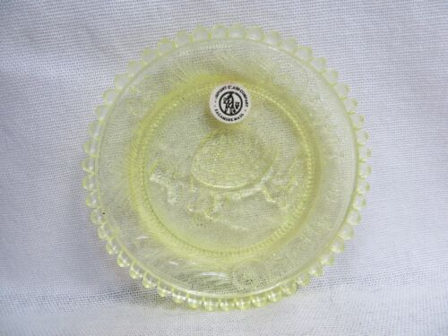 Pale Yellow Spotty the Turtle Pairpoint Glass Company Coaster or Plate Label