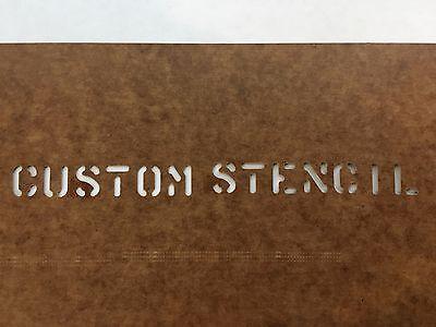 "Home Decoration - U.S Military CUSTOM MADE Oil board Stencil US Army USMC Marsh 1"" 1/2"" & 1/4"" USN"
