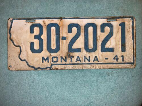 US USA WWII MONTANA LICENSE PLATE CAR AUTO TAG HOME FRONT 1941 AUTOMOBILE RARE