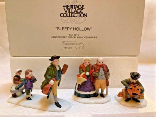 Dept 56 Heritage Village SLEEPY HOLLOW (Set of 3) ~ New England ~ Pumpkin ~ Fall