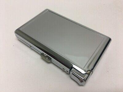 Metal Case Tobacco Cigarette Holder Comtainer Box Silver New w/Built in Lighter