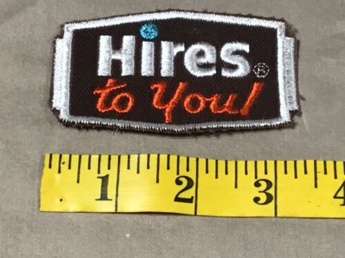 Vintage HIRES TO YOU! Embroidered Patch Rootbeer Soda Pop Cola Root Beer NOS New