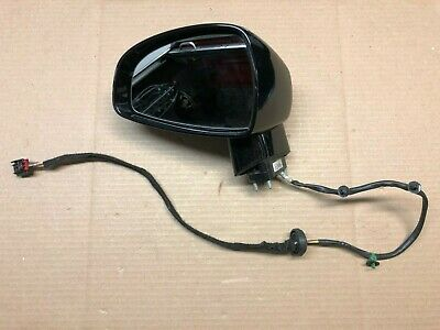 2008-2015 AUDI TT MK2 LEFT DRIVER SIDE VIEW MIRROR BLACK OEM