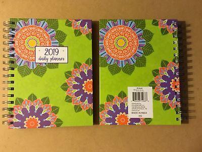 New 2019 Daily Planner Calendar Organizer Agenda Size 8.25x 6 78 Flower Print